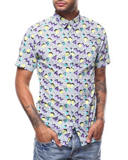 Shirts - LAVENDER SPEC GEP PRINT SS WOVEN SHIRT-2278038