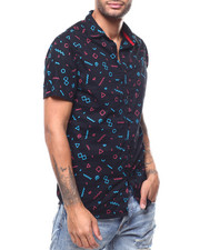 Short-Sleeve - 80S SQUIGGLE SS WOVEN SHIRT-2278043