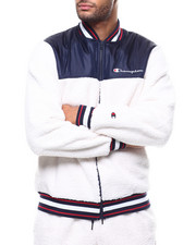 Light Jackets - SHERPA BASEBALL JACKET-2278077