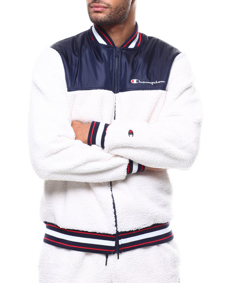 Champion - SHERPA BASEBALL JACKET