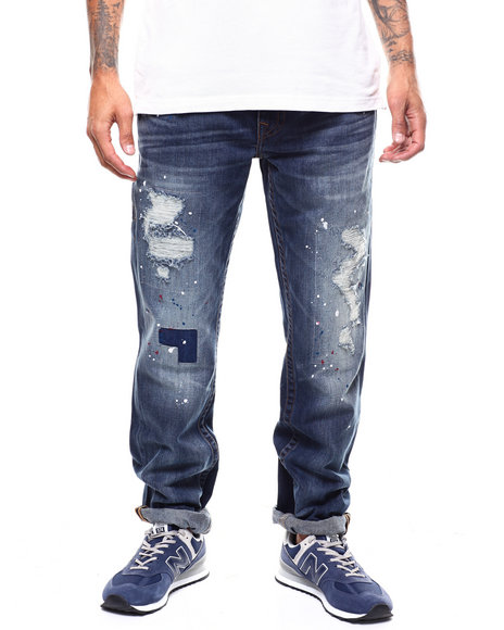 True Religion - STRAIGHT FLAP Distressed Jean