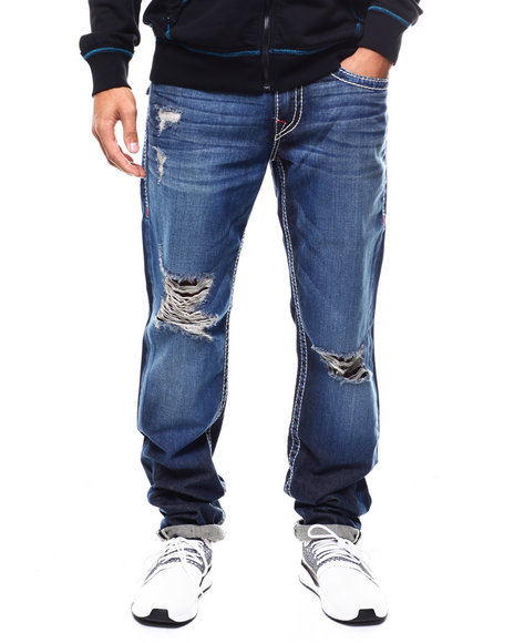 True Religion - SLIM FLAP NATURAL BIG T RED Jean