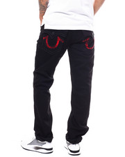 True Religion - Straight Flap Black Big T Red Jean-2277947