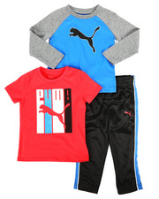 Sets - 3 Piece Tee & Track Pant Set (2T-4T)-2276681