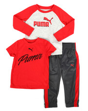 Sets - 3 Piece Tee & Track Pant Set (2T-4T)-2277165