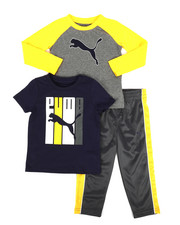 Sets - 3 Piece Tee & Track Pant Set (2T-4T)-2276672