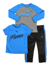 Sets - 3 Piece Tee & Track Pant Set (2T-4T)-2277177