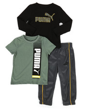 Sets - 3 Piece Tee & Track Pant Set (2T-4T)-2276668