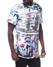 Shirts - DENIM GRAFFITI PRINT TEE-2278164