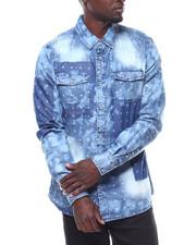 Shirts - BLEACHED PATCHWORK DENIM SHIRT-2278214
