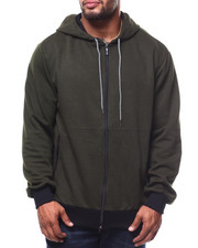 Light Jackets - Oversized Full Zip Tech Fleece Hoodie (B&T)-2278463
