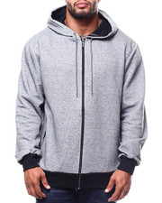 Light Jackets - Oversized Full Zip Tech Fleece Hoodie (B&T)-2278467