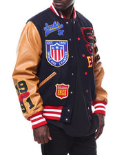 Light Jackets - Old School Varsity Jacket-2278724