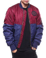Light Jackets - ColorBlock Padded Flight Jacket-2279134