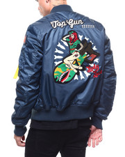 Light Jackets - Pinup Girl Reversible Bomber Jacket-2279062