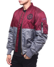 Light Jackets - ColorBlock Padded Flight Jacket-2279118