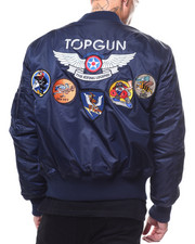 Light Jackets - Top Gun Military Patch Flight Jacket-2279023