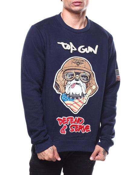 Top Gun - Bulldog Defend & Serve Crewneck Sweatshirt
