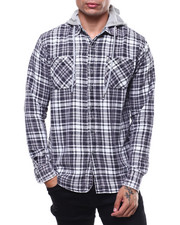 Shirts - ELI FLANNEL W HOOD-2279029