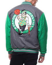 Light Jackets - Boston Celtic Varsity Jacket by JH Designs-2279230