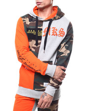 Akademiks - FORCE COLORBLOCK CAMO HOODY-2277320