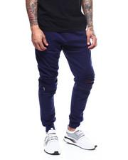 Sweatpants - zip knee distressed fleece jogger-2277776