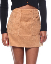 Womens-Fall - Corduroy Pocketed Mini Skirt-2279320