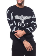 BOY LONDON - Eagle Printed on Sleeves Sweatshirt-2279504