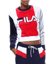 Fila - Antoniette Crop Velour Sweatshirt-2276552