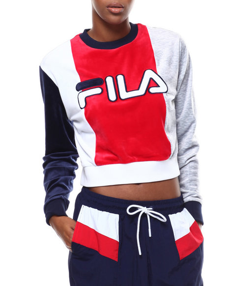 Fila - Antoniette Crop Velour Sweatshirt