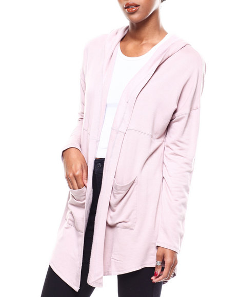 Fashion Lab - L/S Hooded Pocketed Cardigan