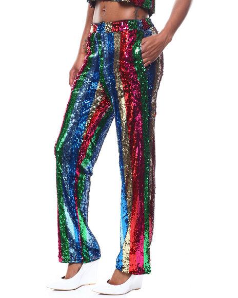 Fashion Lab - Sequin Stripe Pant