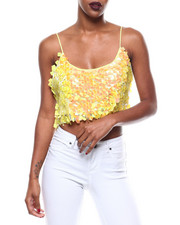 Fashion Lab - S/L Sequin Crop Top-2279362
