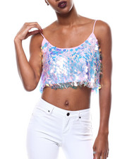 Fashion Lab - S/L Sequin Crop Top-2279358