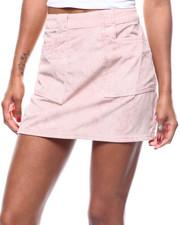 Bottoms - Corduroy Pocketed Mini Skirt-2279324