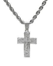 Accessories - Double Cross Chain Necklace-2279909