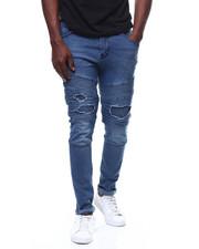 Buyers Picks - Blue Wash Moto Jean w Repaired Knee Detail-2279852