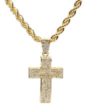 Accessories - Double Cross Chain Necklace-2279908