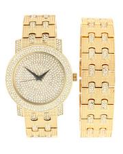 Jewelry & Watches - Iced Watch & Bracelet Set-2279902