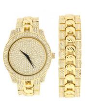 Jewelry & Watches - Iced Watch & Bracelet Set-2279903