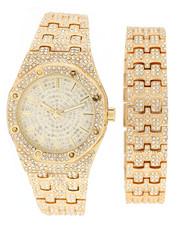 Jewelry & Watches - Iced Watch & Bracelet Set-2279888