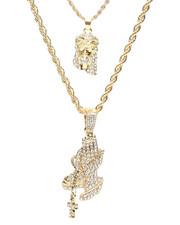 Jewelry & Watches - 2 Piece Jesus Praying Hands Necklace Set-2279914