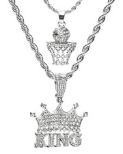 Accessories - 2 Piece Basketball King Necklace Set-2279912