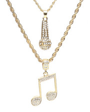 Accessories - 2 Piece Mic Music Necklace Set-2279915