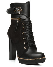 Fashion Lab - Chunky Heel Lace-Up Boots-2280819