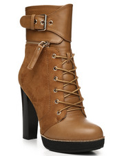 Womens-Winter - Chunky Heel Lace Up Bootie-2280849