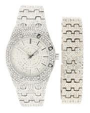 Jewelry & Watches - Iced Watch & Bracelet Set-2280561