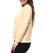 Sweaters - 2Tone Hacci Ribbed Sleeve Sweater-2280389