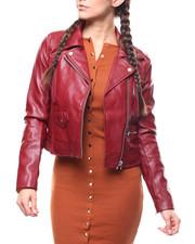 Outerwear - Faux Leather Moto Jacket-2279308