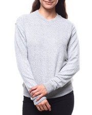 Sweaters - 2Tone Hacci Ribbed Sleeve Sweater-2280413